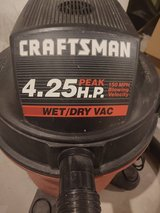 Craftsman 4.25 Wet/Dry Vac in Cary, North Carolina