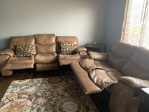 Leather reclining couch and loveseat set in Batavia, Illinois