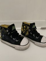 Batman kids converse in Beaufort, South Carolina