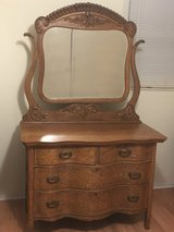 Antique Oak Wood Dresser in Sandwich, Illinois
