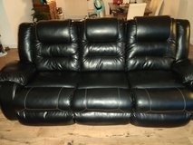 Ashly Fax Leather couch with dual recliner. in Schofield Barracks, Hawaii