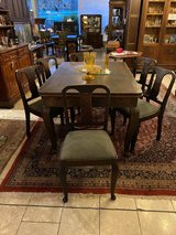 Art Deco dining room set with 6 chairs and 2 extension leaves in Spangdahlem, Germany