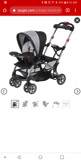 Baby trend sit-n-stand ultra double stroller in 29 Palms, California
