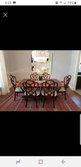 Henredon Vintage *Branded* Inlaid Claw Foot Mahogany Dining Room Table in Kingwood, Texas