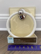 New!  Martha Stewart Towel Ring - Nickel and Coated Metal in Chicago, Illinois