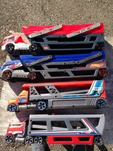 4 Hot Wheels transporter trucks in Spring, Texas