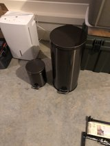 Stainless Steel Trash Can in Fort Campbell, Kentucky