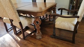 antique dining table and 6 chairs in West Orange, New Jersey