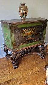 Antique pained chest in West Orange, New Jersey