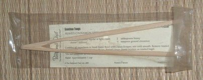 NEW Pampered Chef Bamboo Tongs # 2237 Retired SEALED in Morris, Illinois