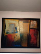 Abstract Painting with Frame in Ramstein, Germany