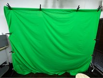Wide Green Screen Curtains for Studio in Okinawa, Japan