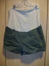 Bella Vida Maternity Olive Green Denim Jeans Shorts Stretch (T=30) in Fort Campbell, Kentucky