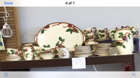 VINTAGE FRANCISCAN APPLE DINNERWARE in Livingston, Texas