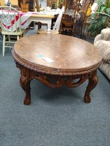 Ornate Coffee Table Marble Top in St. Charles, Illinois