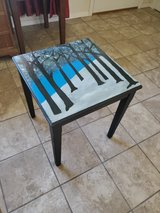 snowy tree painted end table in Alamogordo, New Mexico