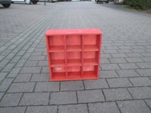 small red cubbies in Ramstein, Germany