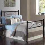 Full Size Metal Platform Bedframe with Bowknot Headboard and Footboard in Naperville, Illinois