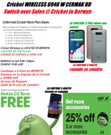 CRICKET WIRELESS 6946 W CERMAK RD IS OPEN WE ARE ON THE CORNER OF CERMAK &HOME AVE in Westmont, Illinois