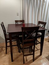 Counter height dining table set in Okinawa, Japan