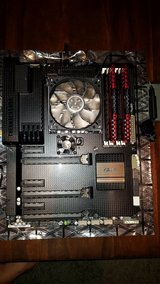 Asustek Intel Socket 1155 ATX Motherboard Sabertooth Z77 with i5 3570k processor in Okinawa, Japan