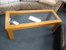 Light Wood Glass Top Coffee Table in Oswego, Illinois