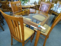 Square Glass Top Table and 4 Chairs in Naperville, Illinois