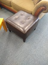 Faux Leather Brown Ottoman in Naperville, Illinois