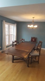 Last Chance! Spanish Colonial 10 person dining table and 5 chairs Berkey & Gay Furniture in Yorkville, Illinois
