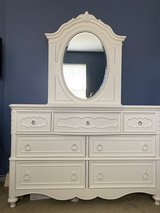 Beautiful White Dresser with mirror in Naperville, Illinois