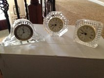 3 crystal desk/mantle clocks in The Woodlands, Texas