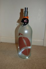 Large lighted football bottle in Bolingbrook, Illinois