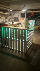 Bar made of reclaimed wood in Bolingbrook, Illinois