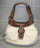 COACH BEIGE ALL LEATHER SHOULDER HOBO HANDBAG PURSE SATCHEL in Bolingbrook, Illinois