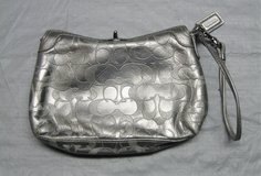COACH SILVER MONOGRAM CLUTCH WRISTLET in Chicago, Illinois