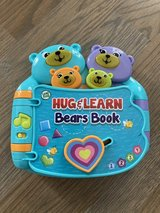 Leap Frog Hug & Learn Bears Book - Electronic Toy in Cary, North Carolina