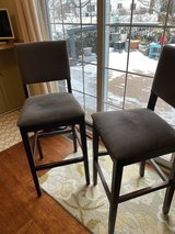 Two grey barstools in Yorkville, Illinois