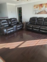Leather Couch and Love Seat in Fort Campbell, Kentucky