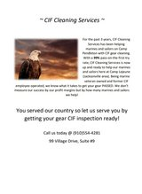 CIF Cleaning Services in Camp Lejeune, North Carolina