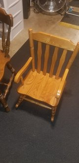 rockin chair for kids  under 8 solid oak in Yorkville, Illinois