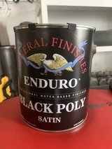 General Finishes Enduro Black poly satin 1 gal new in Okinawa, Japan