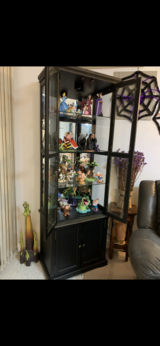 Curio cabinet shelves  storage. lighted in Okinawa, Japan