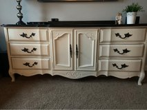 Solid wood black and white dresser/tv console in Westmont, Illinois