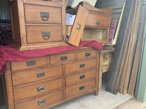 BEDROOM DRESSER,NIGHTSTANDS,,KING SIZE BED ,,will sell separated in Alamogordo, New Mexico