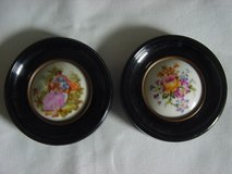 Two Limoges Handpainted Miniature Porcelain Pictures in Ramstein, Germany