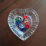 Love Heart Crystal Candy Bowl w/ Decorative Glass Candy's in Batavia, Illinois