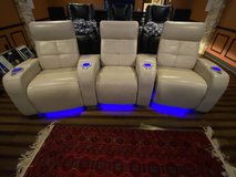 Leather Home Theater Chairs Palliser (3x) in Fort Belvoir, Virginia