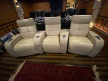 Leather Palliser Home Theater Chairs (3x) in Quantico, Virginia