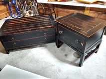 Distressed Black Teak Tables in Clarksville, Tennessee