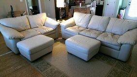 Italian Leather Couches (4pc. set) in Warner Robins, Georgia